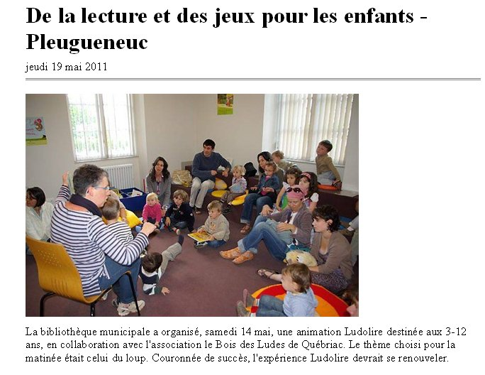 Article Ouest France Mai 2011