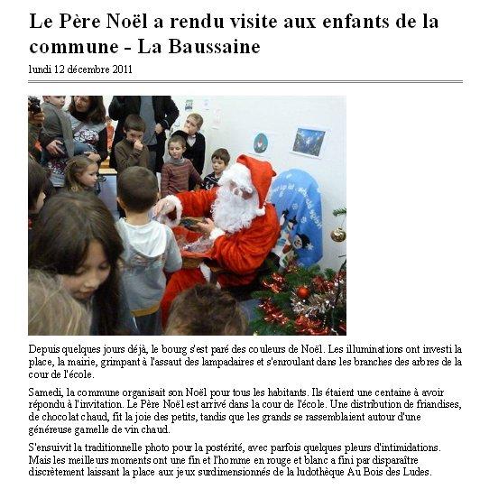 Fête de Noël à La Baussaine