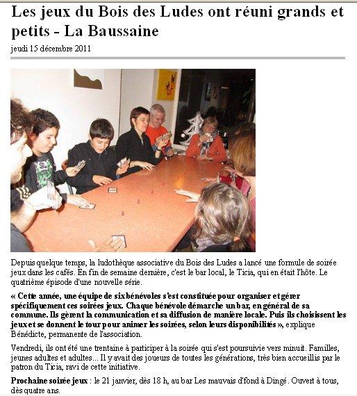 Soirée jeux au Ticia, à La Baussaine