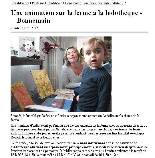 """Ludolire """"La Ferme"""" à Bonnemain"""