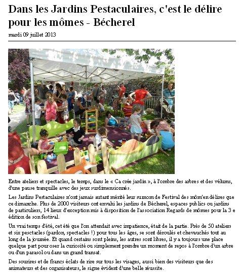 O Jardins pestaculaires 2013