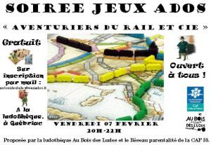 """Soirée Au coin du jeu """"Aventuriers du Rail et Cie"""""""