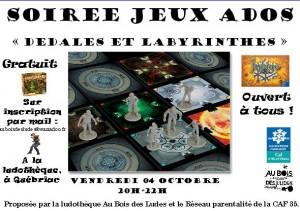 """Soirée Au coin du jeu """"Dédales et labyrinthes"""""""