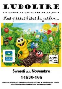"""Ludolire """"Les p'tites bêtes du jardin"""" à Lanhélin"""