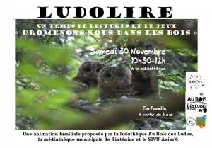 """Ludolire """"Promenons-nous dans les bois"""" à Tinténiac"""