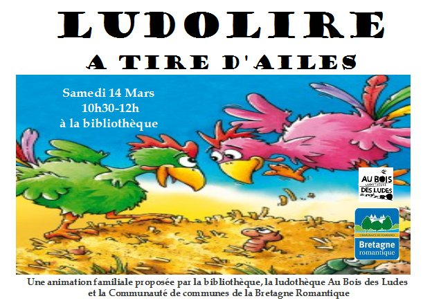 """Ludolire """"A tire d'ailes"""" à Saint Thual"""