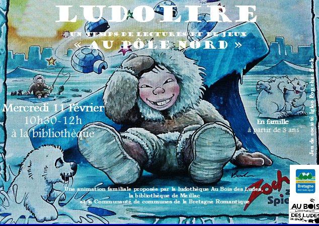 """Ludolire """"Au Pôle Nord"""" à la bibliothèque de Meillac"""