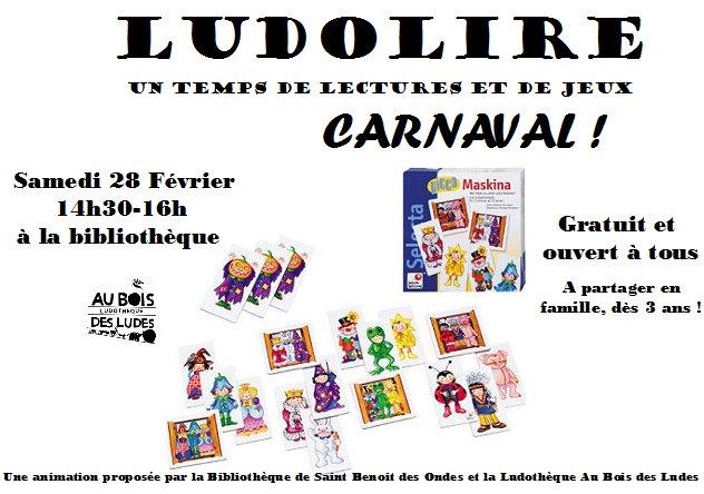 """Ludolire """"Carnaval"""" à Saint Benoit des Ondes"""