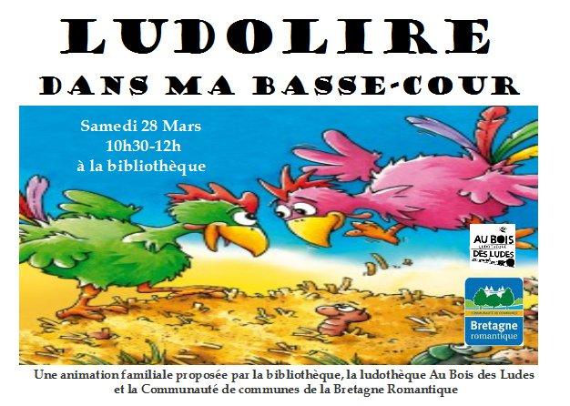 """Ludolire """"Dans ma basse-cour"""" à Pleugueneuc"""