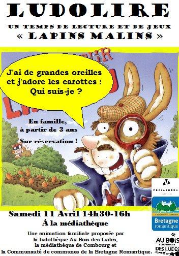 """Ludolire """"Lapins malins"""" à Combourg"""
