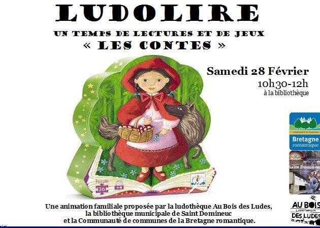 """Ludolire """"les contes"""" à Saint Domineuc"""
