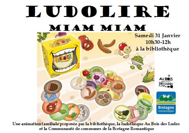 """Ludolire """"Miam Miam"""" à la bibliothèque de Saint Thual"""