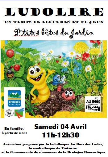 """Ludolire """"Petites bêtes du jardin"""" à Tinténiac"""