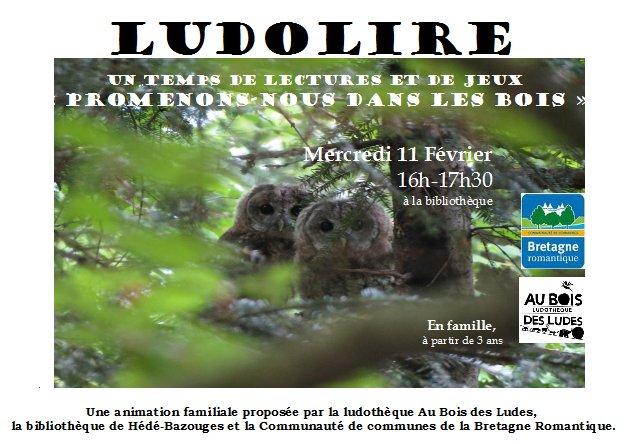 """Ludolire """"Promenons-nous dans les bois"""" à Hédé-Bazouges"""