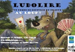 """Ludolire """"Au Loup !"""" à la bibliothèque de Hédé-Bazouges"""