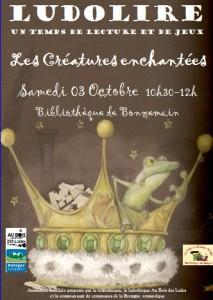 """Ludolire """"Créatures enchantées"""" à la bibliothèque de Bonnemain"""