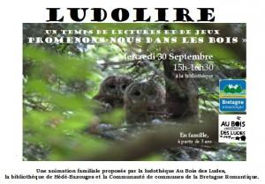 """Ludolire """"Promenons-nous dans les bois"""" à la bibliothèque de Hédé-Bazouges"""