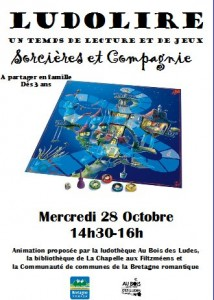 """Ludolire """"Sorcières et Cie"""" à la bibliothèque de La Chapelle aux Filtzméens"""