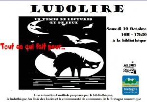 """Ludolire """"Tout ce qui fait peur"""" à la bibliothèque de Dingé"""