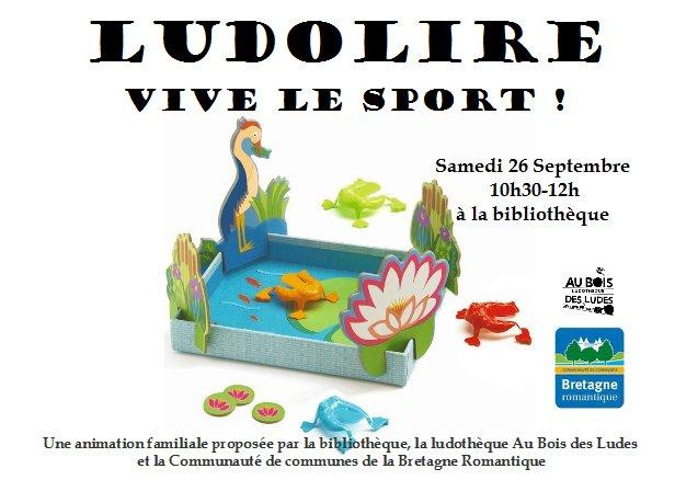"""Ludolire """"Vive le sport !"""" à la bibliothèque de Saint Thual"""
