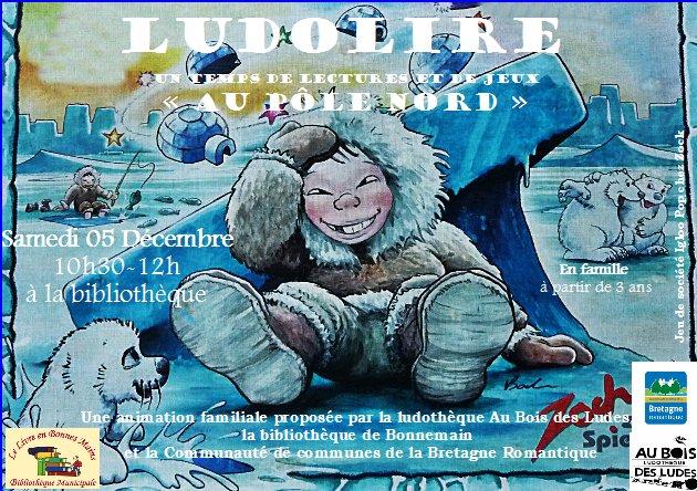 """Ludolire """"Au Pôle nord"""" à la bibliothèque de Bonnemain"""