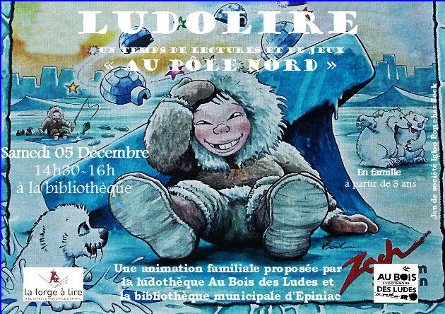 """Ludolire """"Au Pôle nord"""" à la bibliothèque d'Epiniac"""