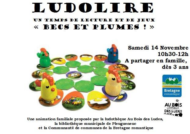 """Ludolire """"Becs et Plumes"""" à la bibliothèque de Pleugueneuc"""