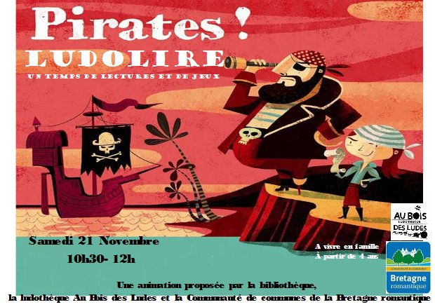 "Ludolire ""Pirates"" à la bibliothèque de Saint Domineuc"