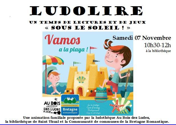 """Ludolire """"Sous le soleil"""" à la bibliothèque de Saint Thual"""