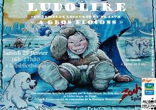 """Ludolire """"A gros flocons"""" à la bibliothèque de Dingé"""