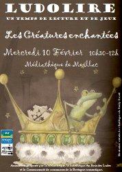 """Ludolire """"Créatures fantastiques"""" à la médiathèque de Meillac"""