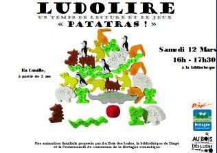 """Ludolire """"Patatras"""" à la bibliothèque de Dingé"""