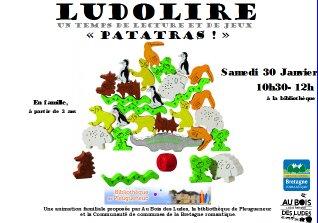 """Ludolire """"Patatras"""" à la bibliothèque de Pleugueneuc"""