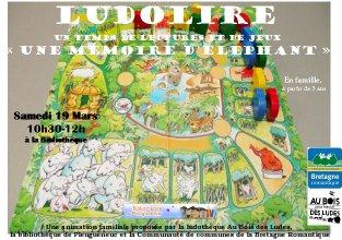 """Ludolire """"Une mémoire d'éléphant"""" à la bibliothèque de Pleugueneuc"""