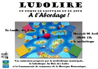 """Ludolire """"A l'abordage !"""" à la médiathèque de Meillac"""