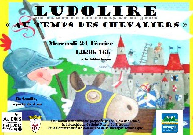 """Ludolire """"Au temps des Chevaliers"""" à Saint Pierre de Plesguen"""