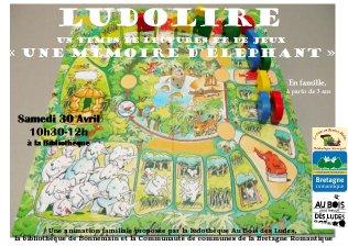"""Ludolire """"Une mémoire d'éléphant"""" à la bibliothèque de Bonnemain"""
