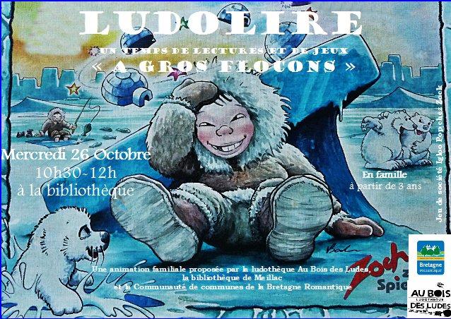 """Ludolire """"A gros flocons"""" à la bibliothèque de Meillac"""