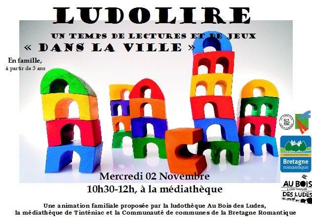 """Ludolire """"Dans la ville"""" à la médiathèque de Tinténiac"""