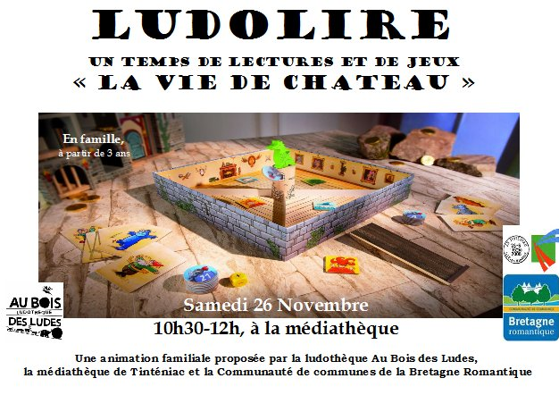 """Ludolire """"La vie de château"""" à la médiathèque de Tinténiac"""