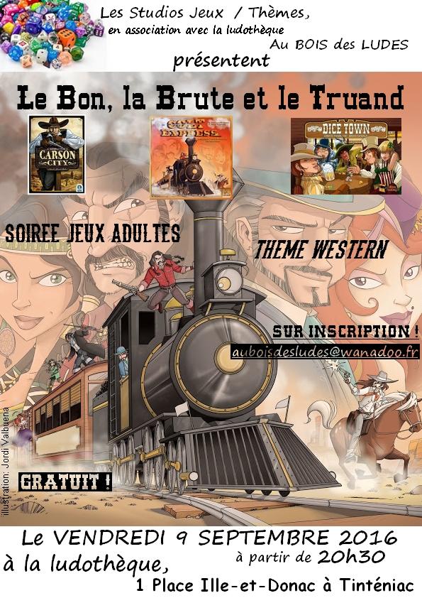 """Soirée jeux Adultes """"Western"""""""