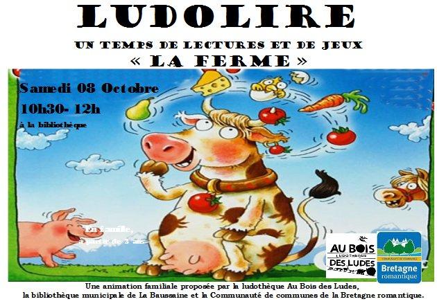 """Ludolire """"La Ferme"""" à la bibliothèque de La Baussaine"""