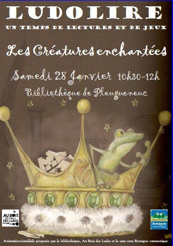 """Ludolire """"Créatures enchantées"""" à la bibliothèque de Pleugueneuc"""