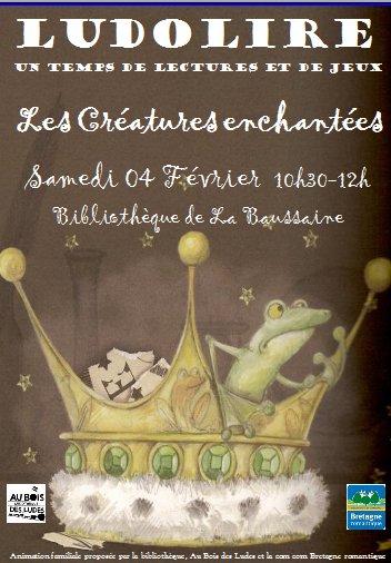 """Ludolire """"Créatures enchantées"""" à la bibliothèque de La Baussaine"""