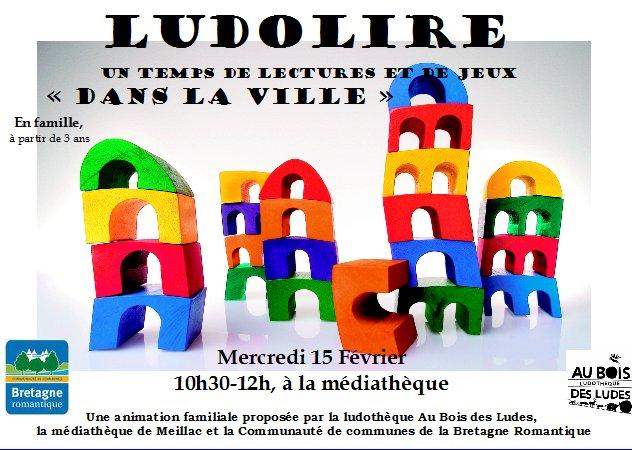 """Ludolire """"Dans la ville"""" à la médiathèque de Meillac"""