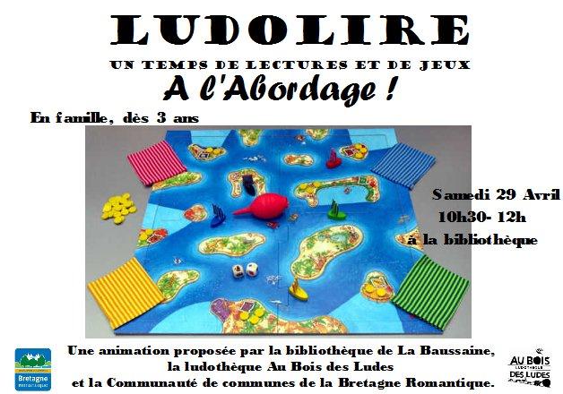 """Ludolire """"A l'abordage !"""" à la bibliothèque de La Baussaine"""