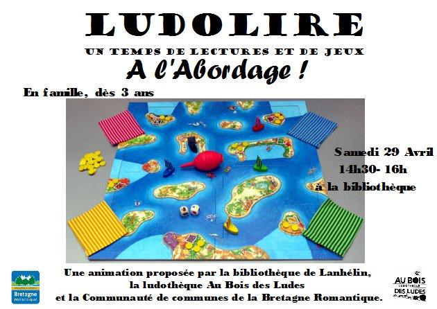 """Ludolire """"A l'abordage !"""" à la bibliothèque de Lanhélin"""