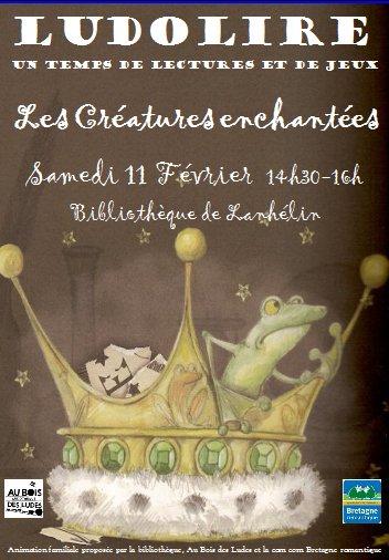 """Ludolire """"Créatures enchantées"""" à la bibliothèque de Lanhélin"""