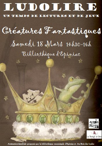 """Ludolire """"Créatures fantastiques"""" à la bibliothèque d'Epiniac"""