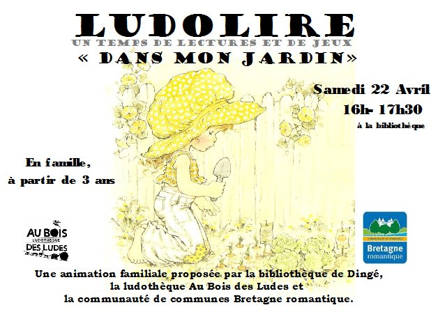 """Ludolire """"Dans mon jardin"""" à la bibliothèque de Dingé"""